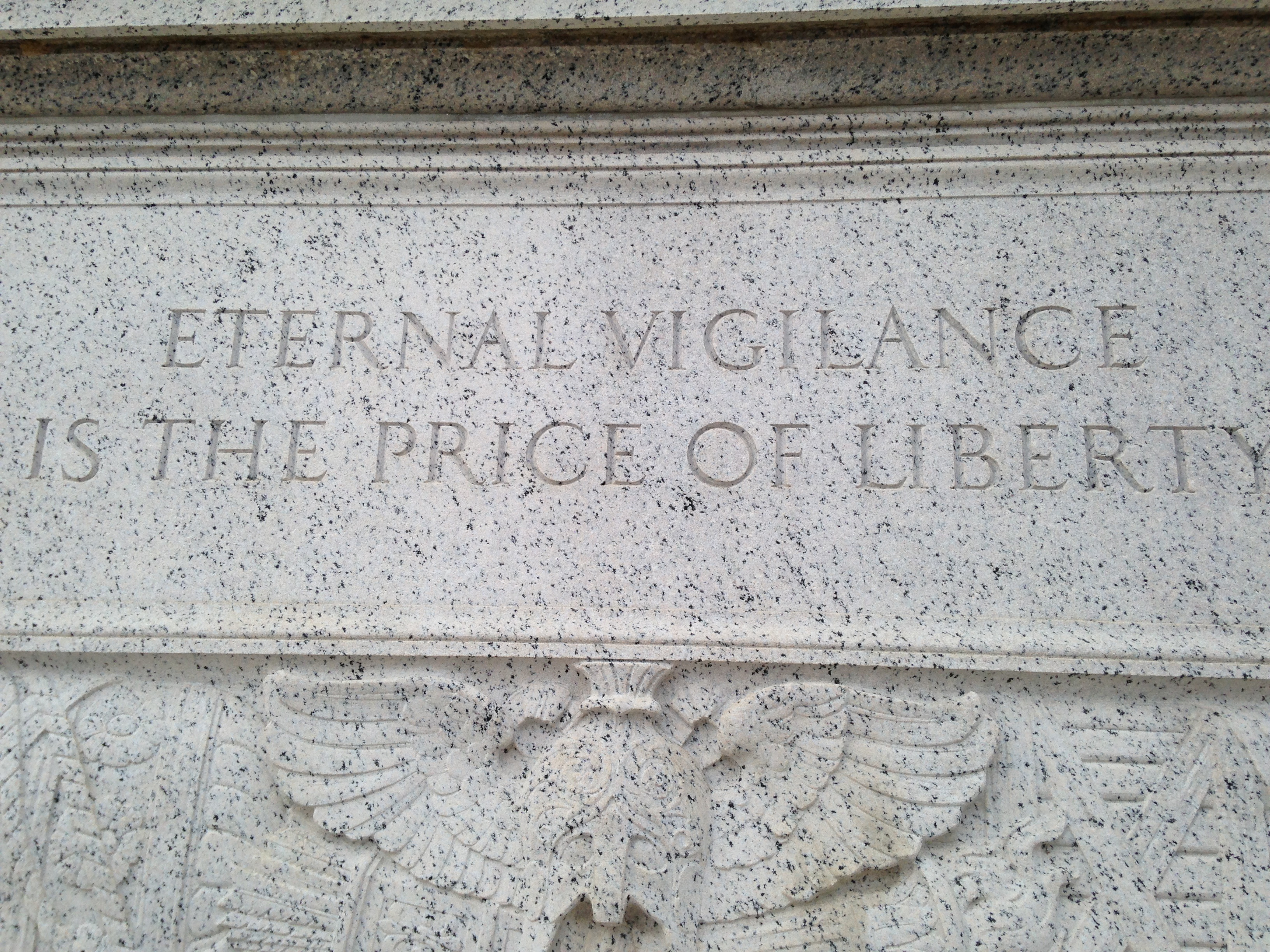 """eternal vigilance is the price of liberty essay How vulnerable is our bank data to a cyber-heist very thomas jefferson said """"eternal vigilance is the price of liberty"""" well said, especially as it."""